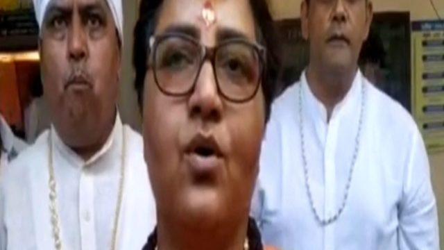 BJP MP Pragya Thakur opposes sterilization bulls sando ki nasnbandi says this playing with nature cgnt - BJP सांसद प्रज्ञा ठाकुर ने सांडों की नसबंदी का विरोध किया, कहा